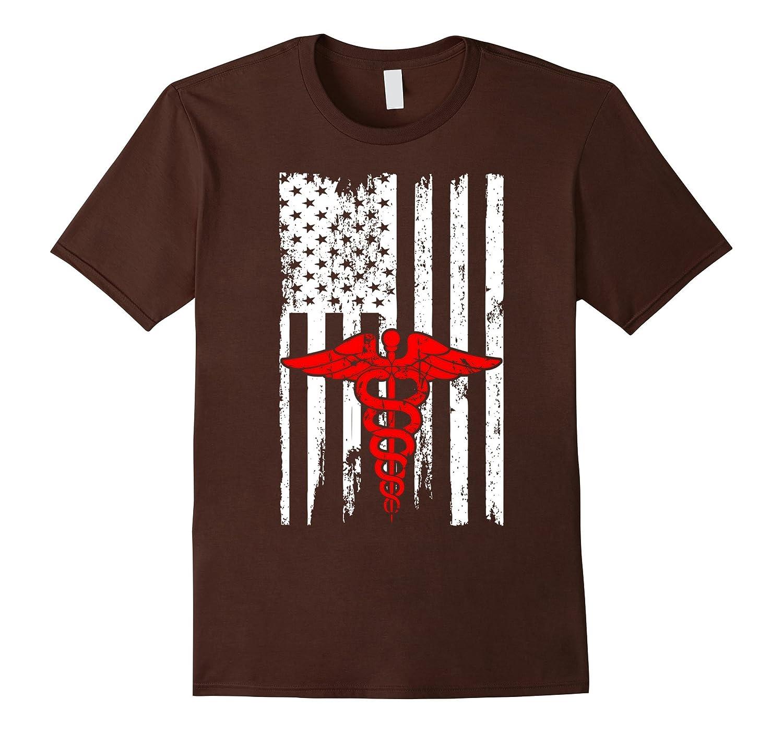 Nurse CNA RN Profession USA Flag Pride Tshirt