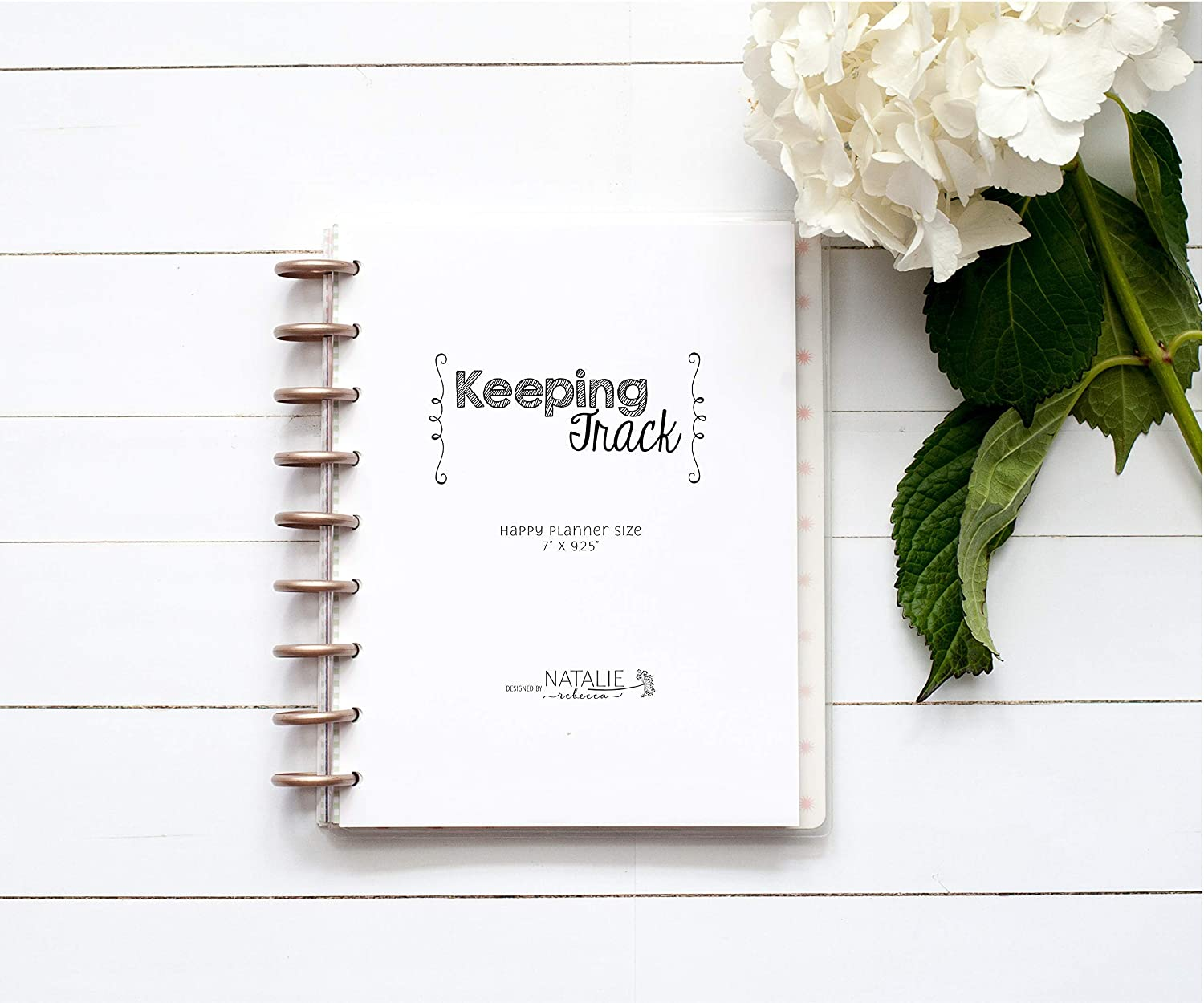 Keeping Track Inserts for the Happy Planner, Fits 9-Disc Notebook, Habit Tracker, 7