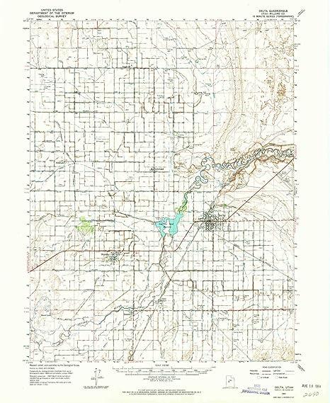 Amazon Com Yellowmaps Delta Ut Topo Map 1 62500 Scale 15 X 15