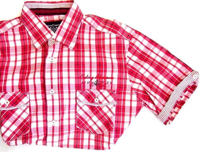 Casa Moda Special Edition Hemd Herren Kurzarm Shirt Hemd rot kariert M 39 40 bcc6f46c22