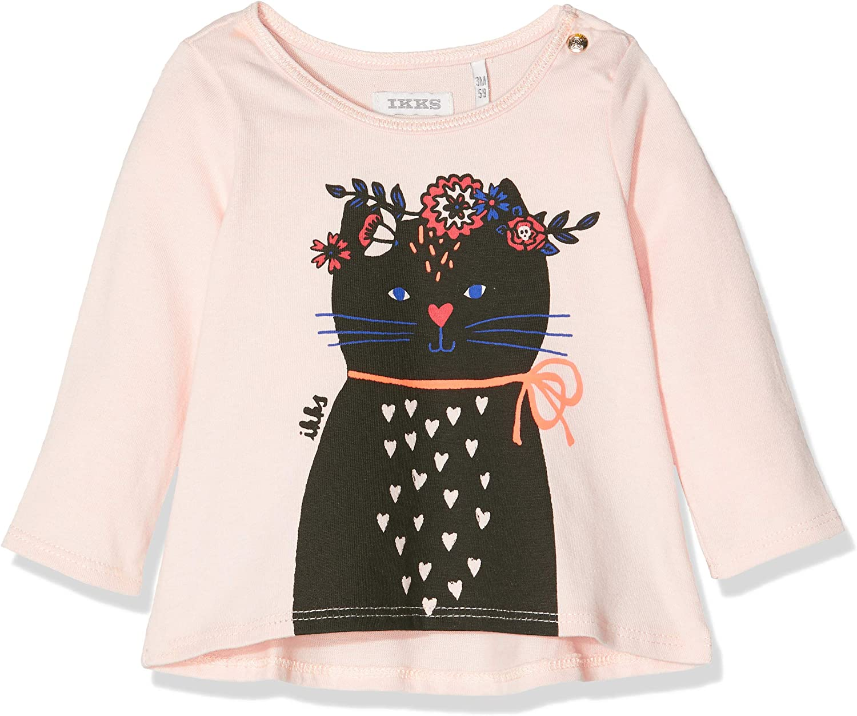 IKKS Tee Shirt ML Chat Couronne Fleur B/éb/é Fille