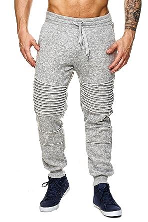 8965fc9579 MEGASTYL Jungen Jogginghosen Sweat-Pants Biker-Style Slim-Fit 100% Baumwolle