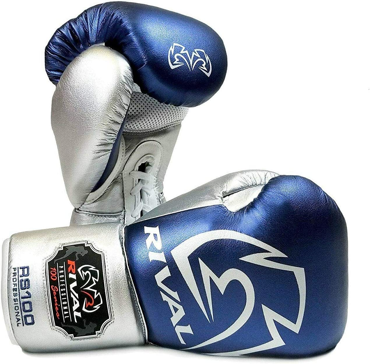 RIVAL RS100 Boxhandschuhe Blau Silber Training Sparring