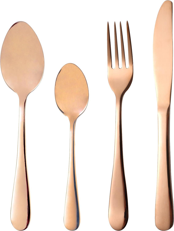 Bergner Berlin Cutlery Set, Stainless Steel, Copper, 30 x 30 x 30 cm