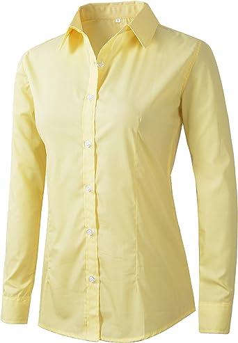 Benibos - Camisa de trabajo formal para mujer: Amazon.es: Ropa y accesorios