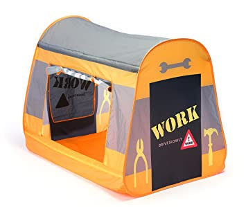 Childrens Pop Up Play Tent Designed like a Construction tent.  Boys Toy Play Tent  sc 1 st  Amazon.com & Amazon.com: Childrens Pop Up Play Tent Designed like a ...