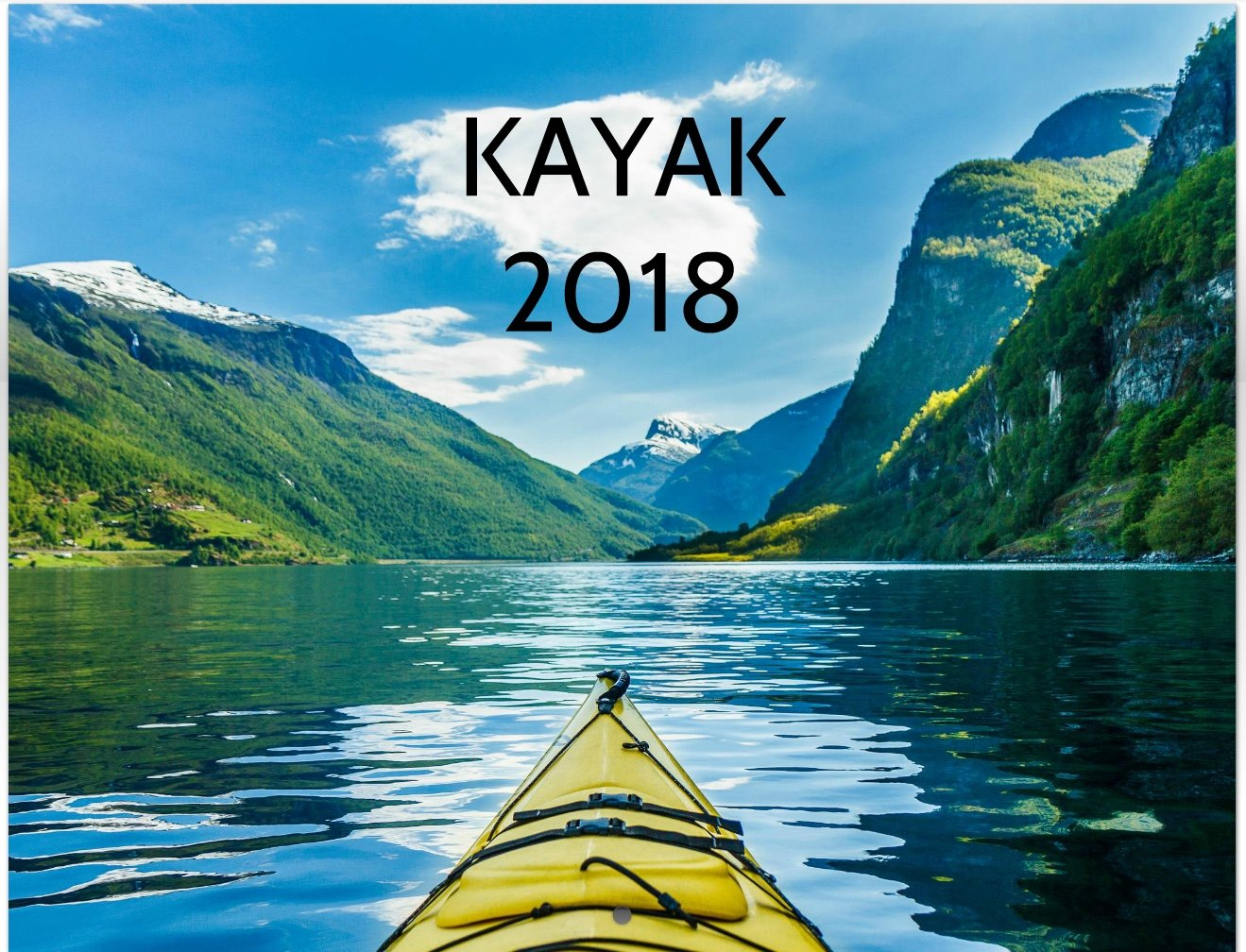 2018 Kayak Wall Calendar
