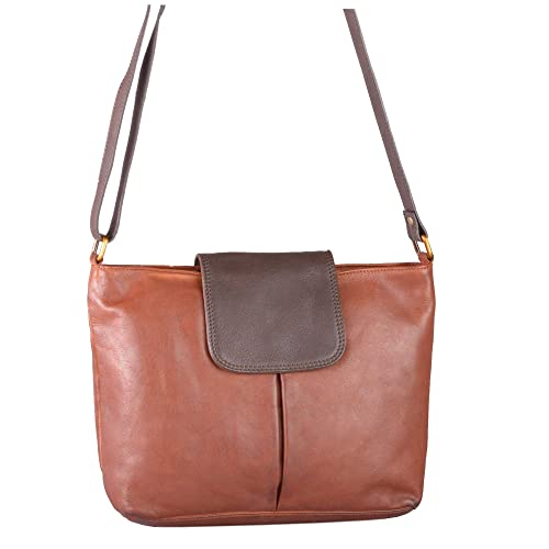 5268e9fd Bolla Bags Womens Cherry Tabbed Leather Shoulder Bag Cognac/Brown ...