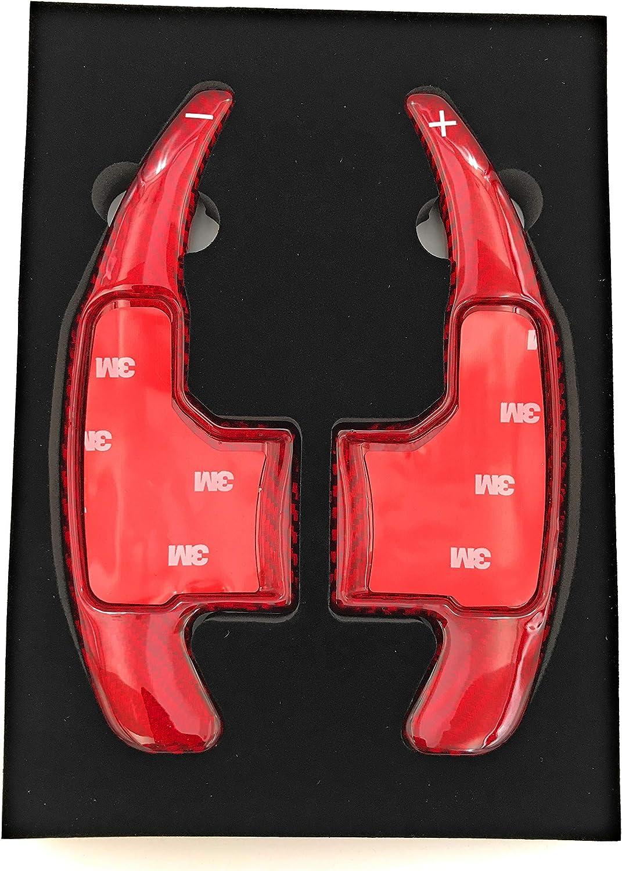 H-Customs Schaltwippen DSG Shift Paddle aus echtem Fiberglass 2015-2018 f/ür Mustang//Rot