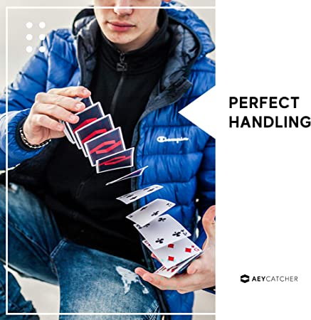 Magic Poker Cards - Made in Belgium Cardistry AEY Catcher Playing Cards Deck of Cards Velvet Edition Cool Playing Cards Unique Design