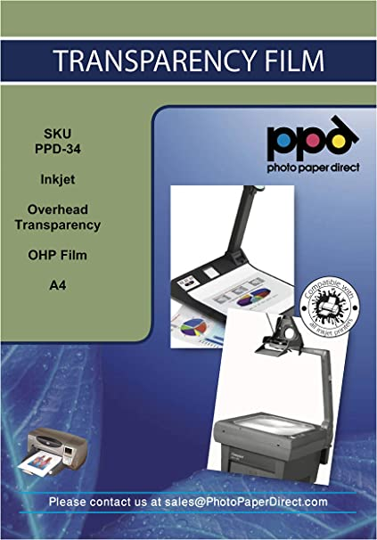 PPD Película Transparente para retroproyectores (con franja ...
