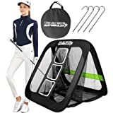 BAYINBULAK 2 in 1 Golf Chipping Practice Net Backyard Driving 2.5'×2.5' Golf Accessories for Men Gift, 1 Pack