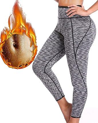 379e6c382f58f Amazon.com  Women Hot Thermo Slimming Sweat Sauna Pants Neoprene Yoga Legging  Shaper for Weight Loss  Clothing