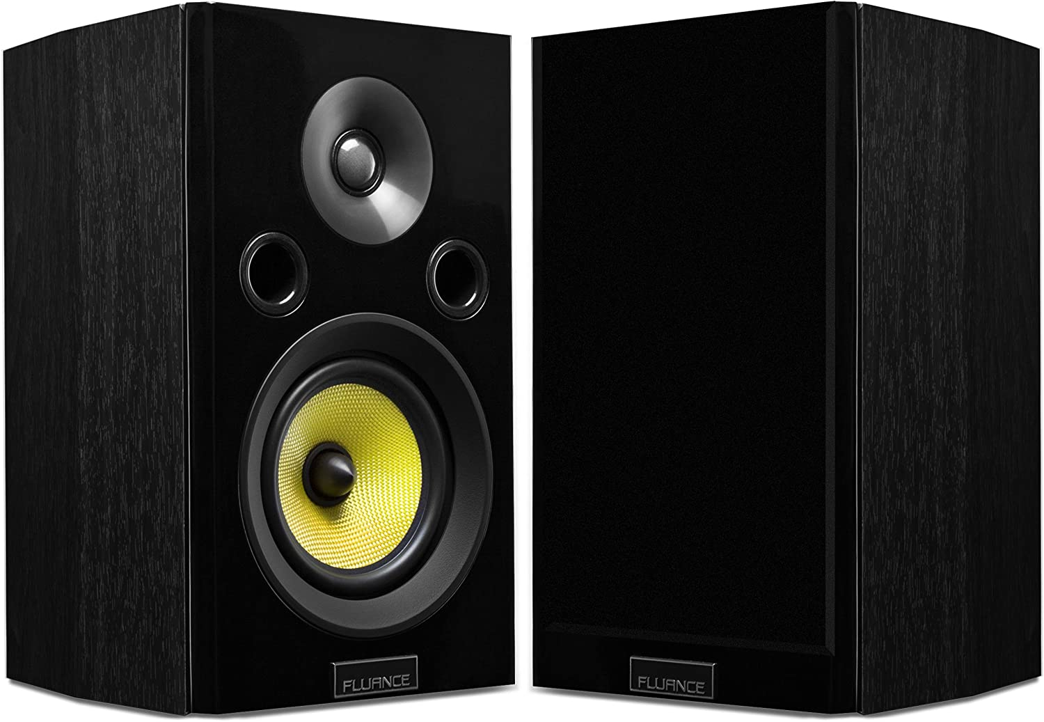 Fluance Signature Series HiFi Two-Way Bookshelf Surround Sound Speakers for Home Theater and Music Systems
