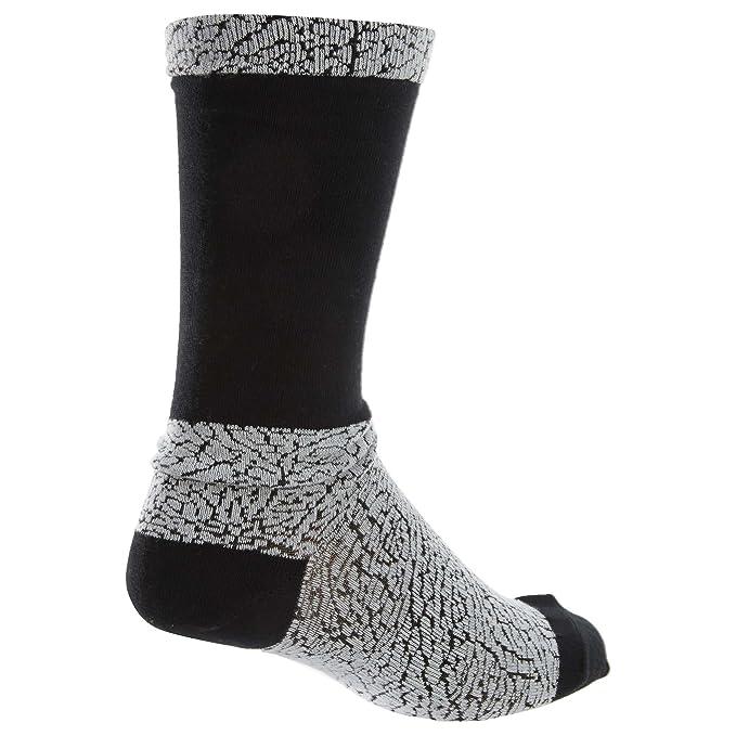 Nike Michael Jordan Ele Print Crew Calcetines, Hombre, Blanco (White/Black/Gym Red), M: Amazon.es: Deportes y aire libre