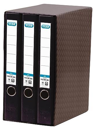 Elba Rado - Módulo 3 archivadores estrechos, color negro: Amazon.es: Oficina y papelería