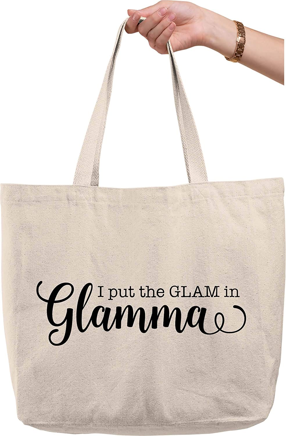 Only the Best Moms get promoted to Mimi XL Canvas Tote Bag