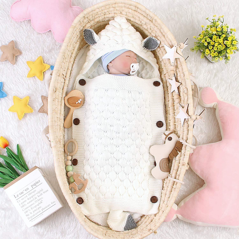 Borlai Saco de Dormir para beb/és Mantas envolventes para Dormir Reci/én Nacidos Manta para 0-18 Meses
