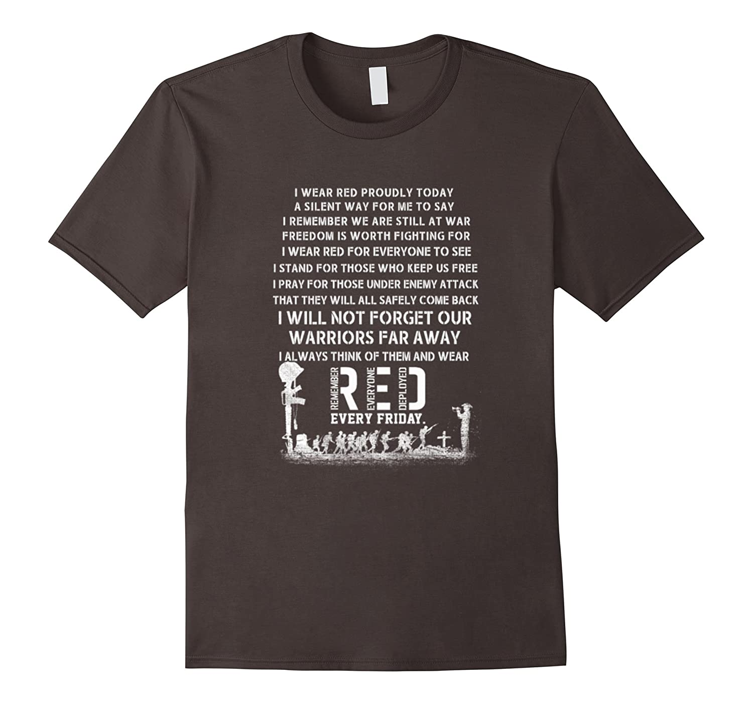 fd920826a RED Friday Military Flag T-Shirt Remember Everyone Deployed-RT ...