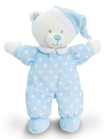 3dc50b727834f Lashuma Keel Baby Stofftier Bär Blau mit Schlafmütze