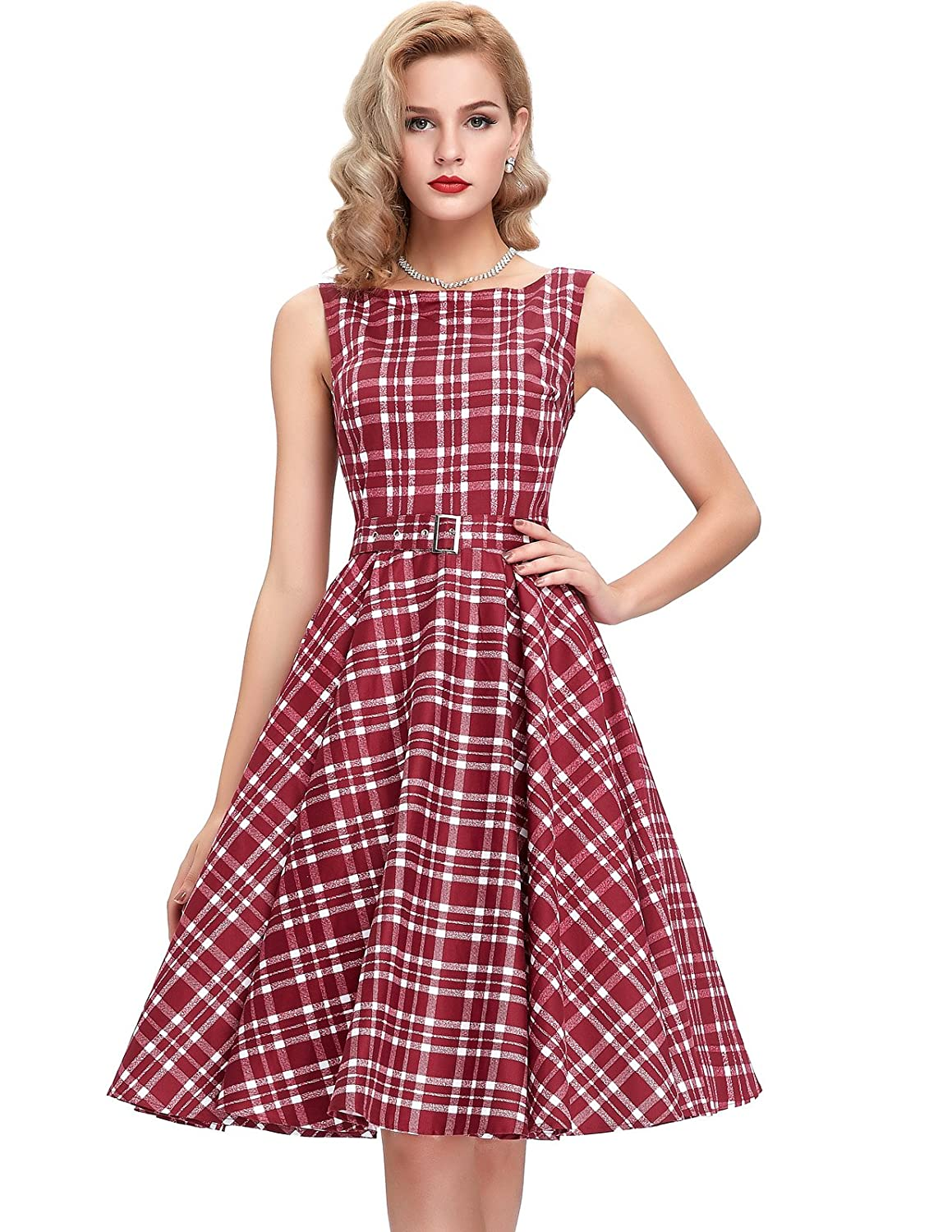 Vintage Polka Dot Dresses – Ditsy 50s Prints 50s Vintage Swing Dress BP0002 (Multi-Colored) $26.37 AT vintagedancer.com