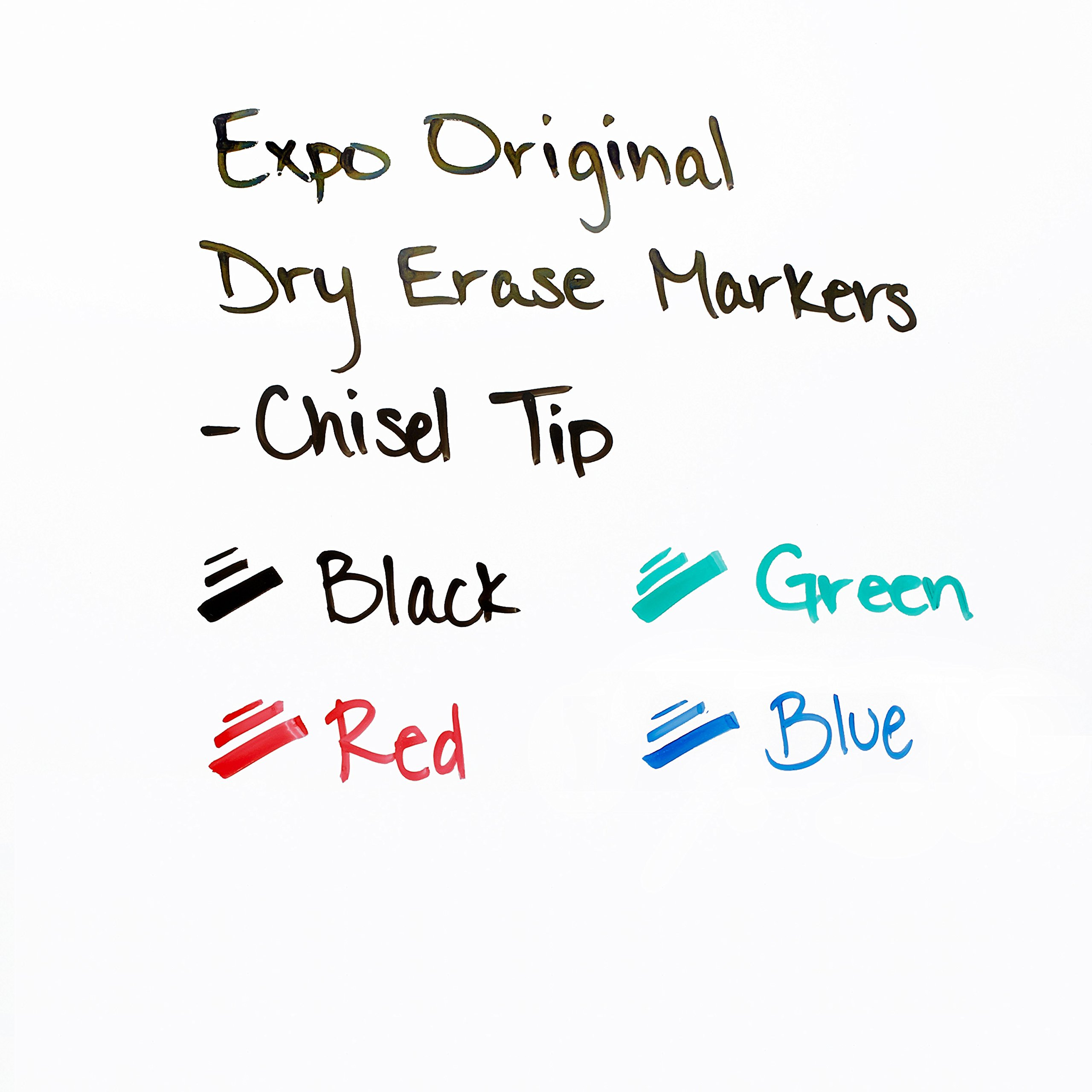 EXPO Low Odor Chisel Tip Dry Erase Markers, Chisel Tip, Assorted Colors, 4-Count by Expo (Image #4)