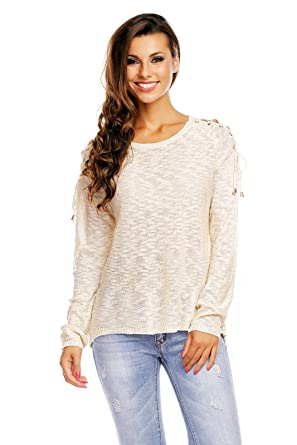 569e5d84a1398c Mayaadi Damen Bluse Pullover Langarm Asymmetrisch Sweatshirt Oberteil Top  Sommer 10117 OneSize  Amazon.de  Bekleidung
