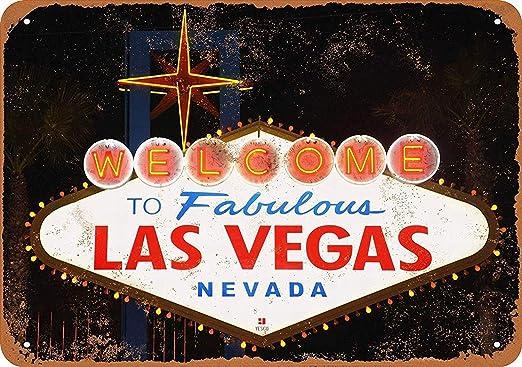 Las Vegas Póster de Pared Metal Creativo Placa Decorativa ...