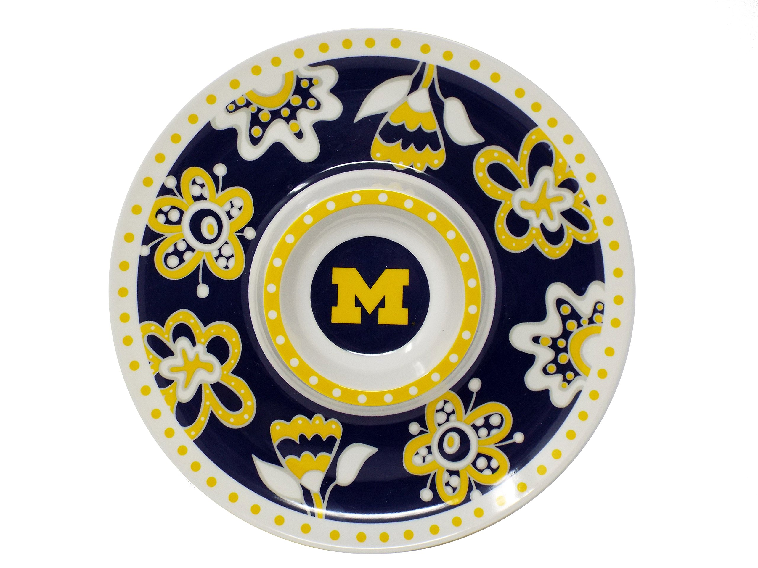 NCAA Melamie Chip and Dip Tray (Michigan Wolverines)