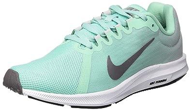 f1d7f28bae62b9 Nike WMNS Downshifter 8, Chaussures de Running Compétition Femme,  Multicolore (Emerald Rise/