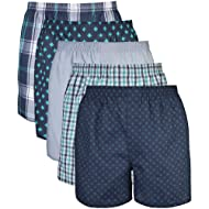 Gildan Men's Woven Boxer Underwear Multipack