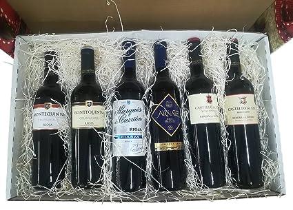 Cesta decorativa con Vinos Rioja y Ribera del Duero para ...