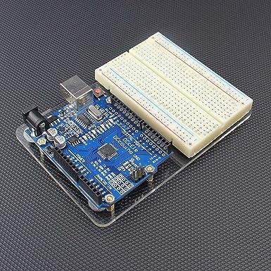 Placa acrílica de pruebas sin soldadura para Arduino ...