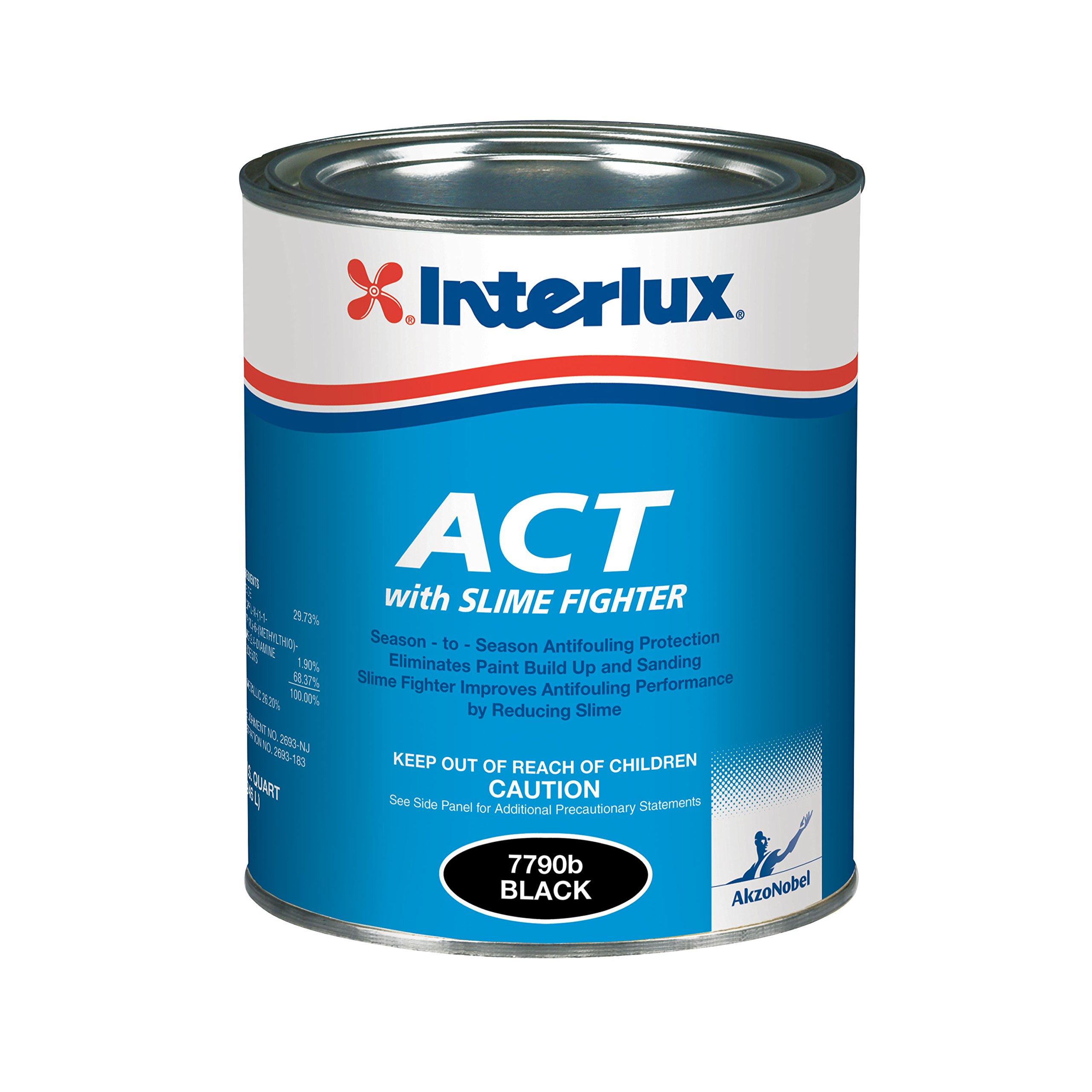 Interlux Y7790U/QT ACT Antifouling Paint (Black, Quart), 32. Fluid_Ounces