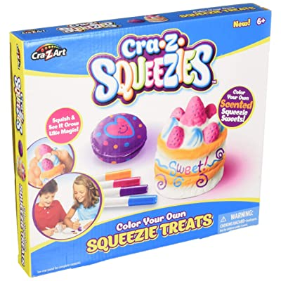 Cra-Z-Art Shimmer and Sparkle Color Your Own Squeezies 2 Count Shortcake/Macaroon Fashion Craft Kits: Toys & Games