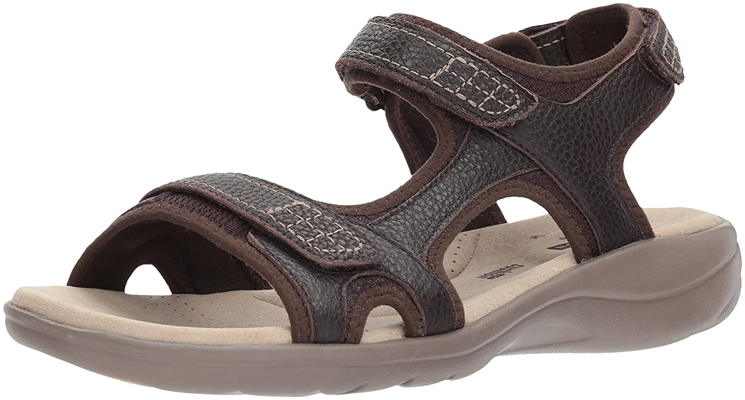 CLARKS Women's Saylie Jade Sandal B074CKL6JN 9.5 W US|Brown Tumbled Leather