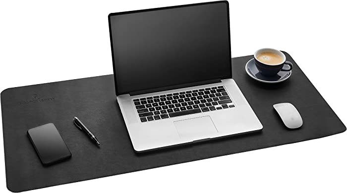 Gallaway Leather Desk Pad - (36 X 17 Inch) Desk Mat Accessories for Women Men Desk Protector Extended Mouse Pad for Office/Home Accessories Writing Pad for Top of Desks (Black)