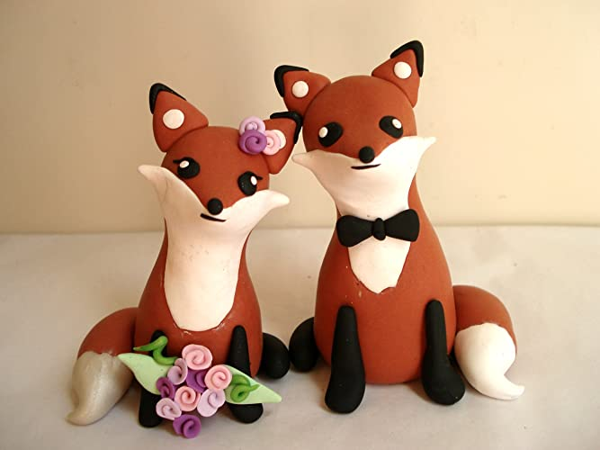 Fox Wedding Cake Toppers