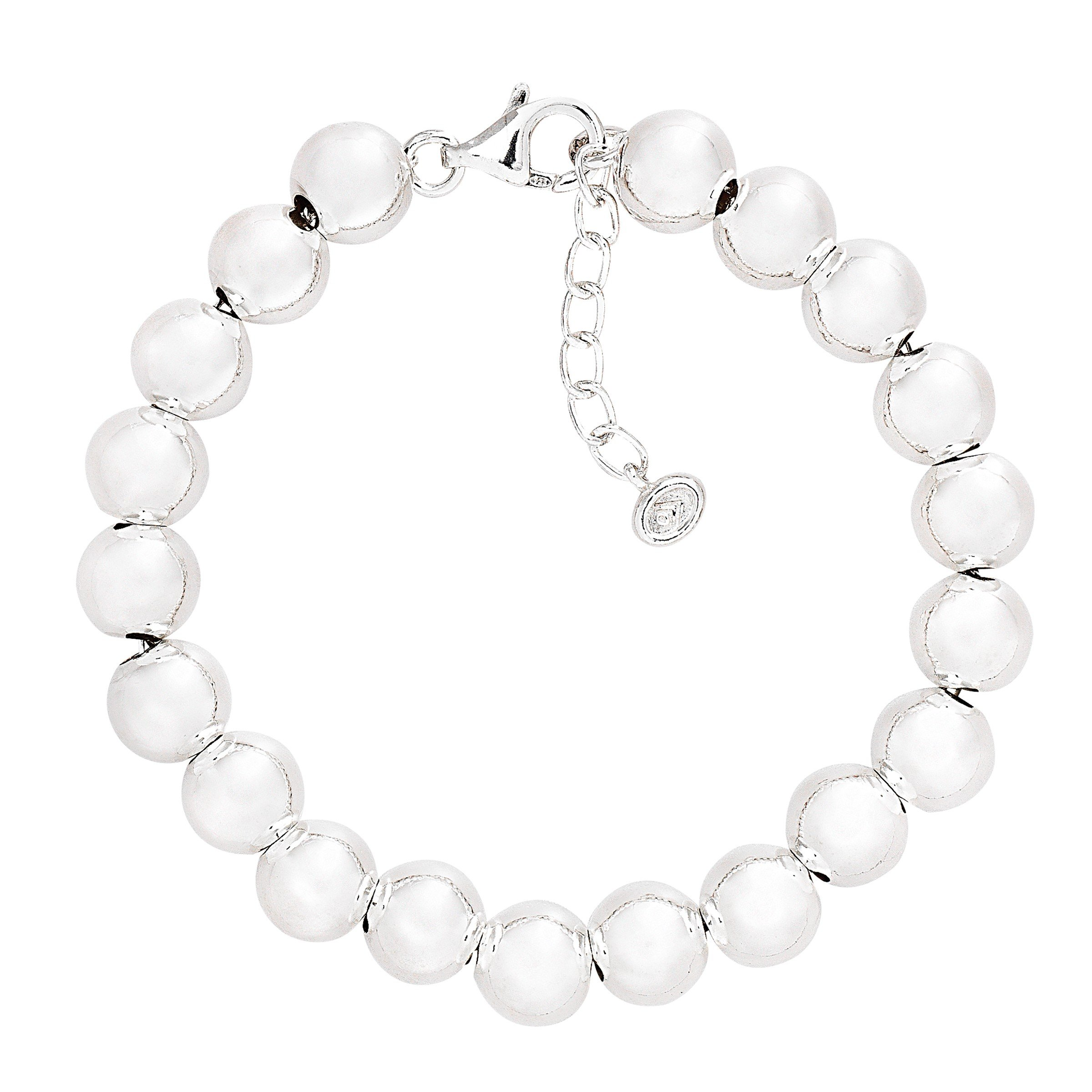 Silpada 'on the Ball' Sterling Silver Bead Bracelet, 7.5'' +1'' Extender