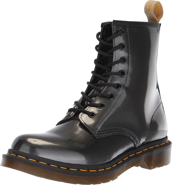 dr martens 1460 purple chrome flat ankle boots