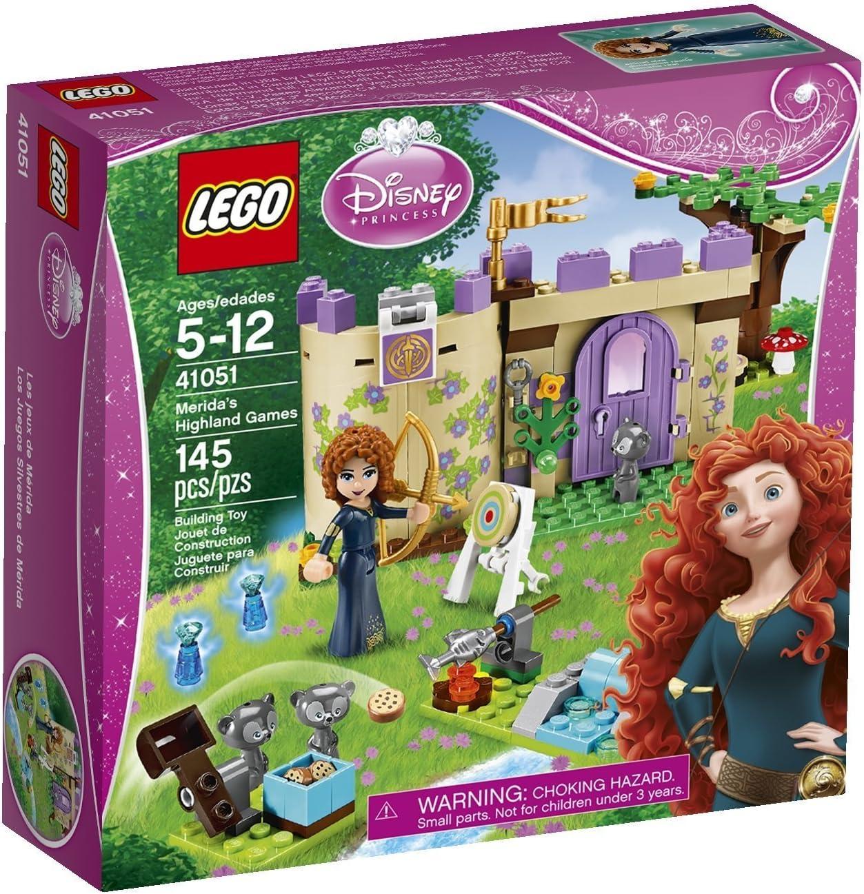 LEGO Disney Toys Premium Princess Merida Castle Set with Minifigures for 6 Year Olds Children