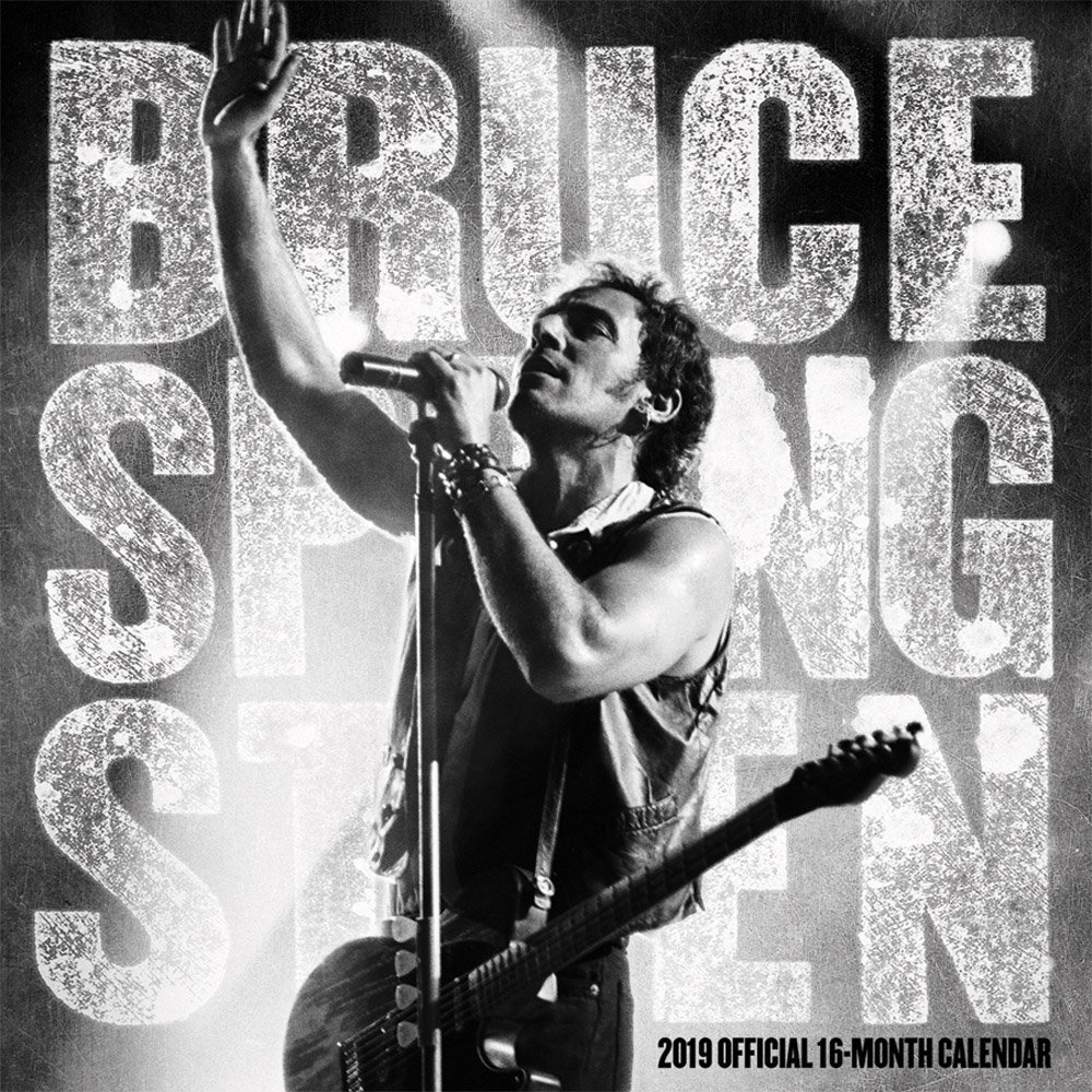 Bruce Springsteen 2019 12 x 12 Inch Monthly Square Wall Calendar by Live Nation, Rock Music Singer Songwriter Celebrity by BrownTrout