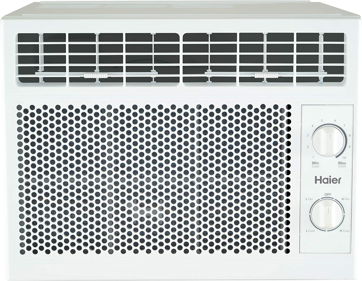 Haier 5,050 BTU Mechanical Window Air Conditioner for Small Rooms up to 150 sq ft, 5000 115V, White