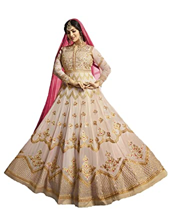 f1f9202779 Amazon.com: Delisa Readymade Partywear Indian/Pakistani Salwar Anarkali  Suit SF-116F4F11 (SMALL-38, Brown): Clothing