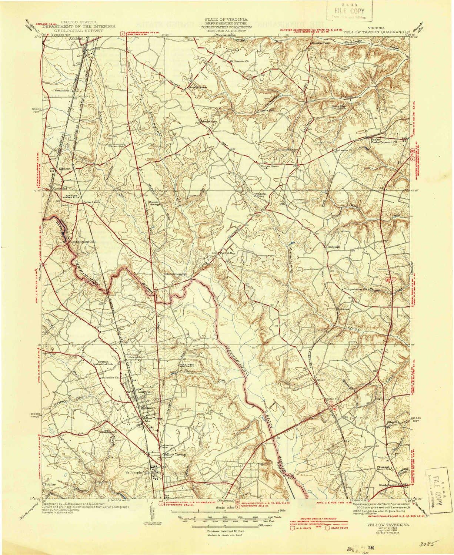 Amazon Com Yellow Tavern Va Topo Map 1 31680 Scale 7 5 X 7 5
