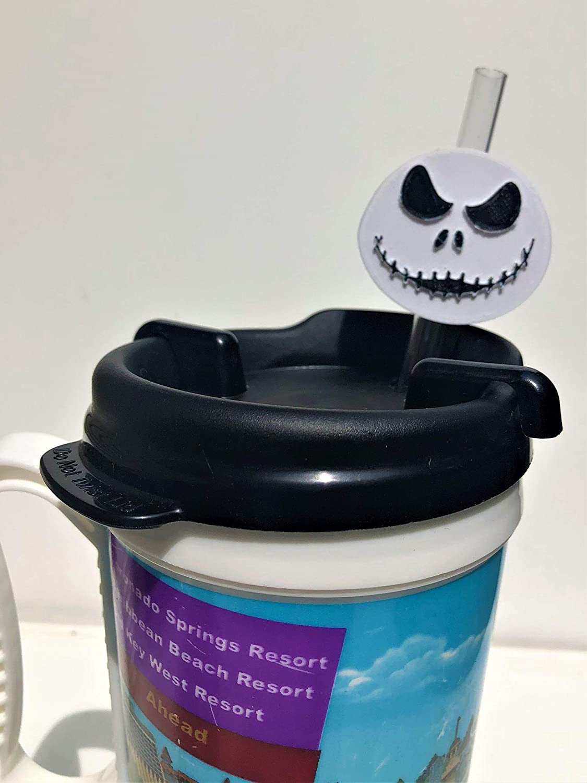 Topper Slider 3D Printed Halloween Skeleton Straw Decoration Fish Extender Gift Party Favor Eco Friendly Kick