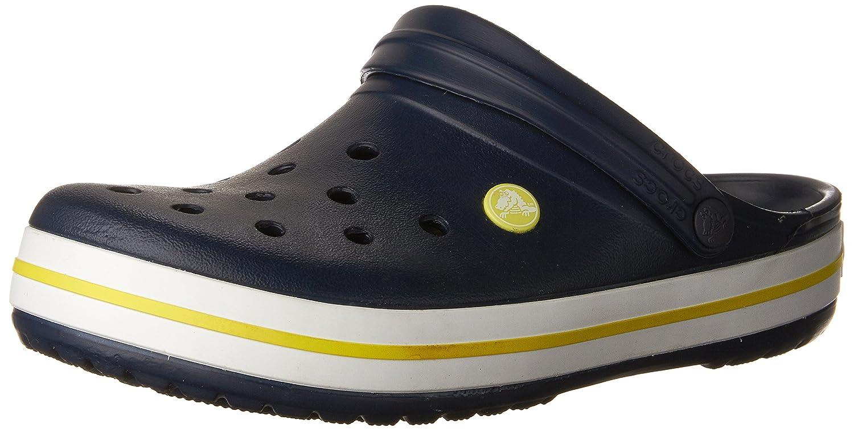 Crocs Unisex Crocband Clog B01HQAM2ES 4 US Men / 6 US Women|Navy/Citrus