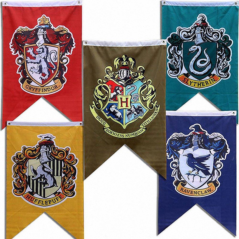 Banner di Harry Potter Grifondoro Serpeverde Tassorosso Collezione di bandiere di Corvonero