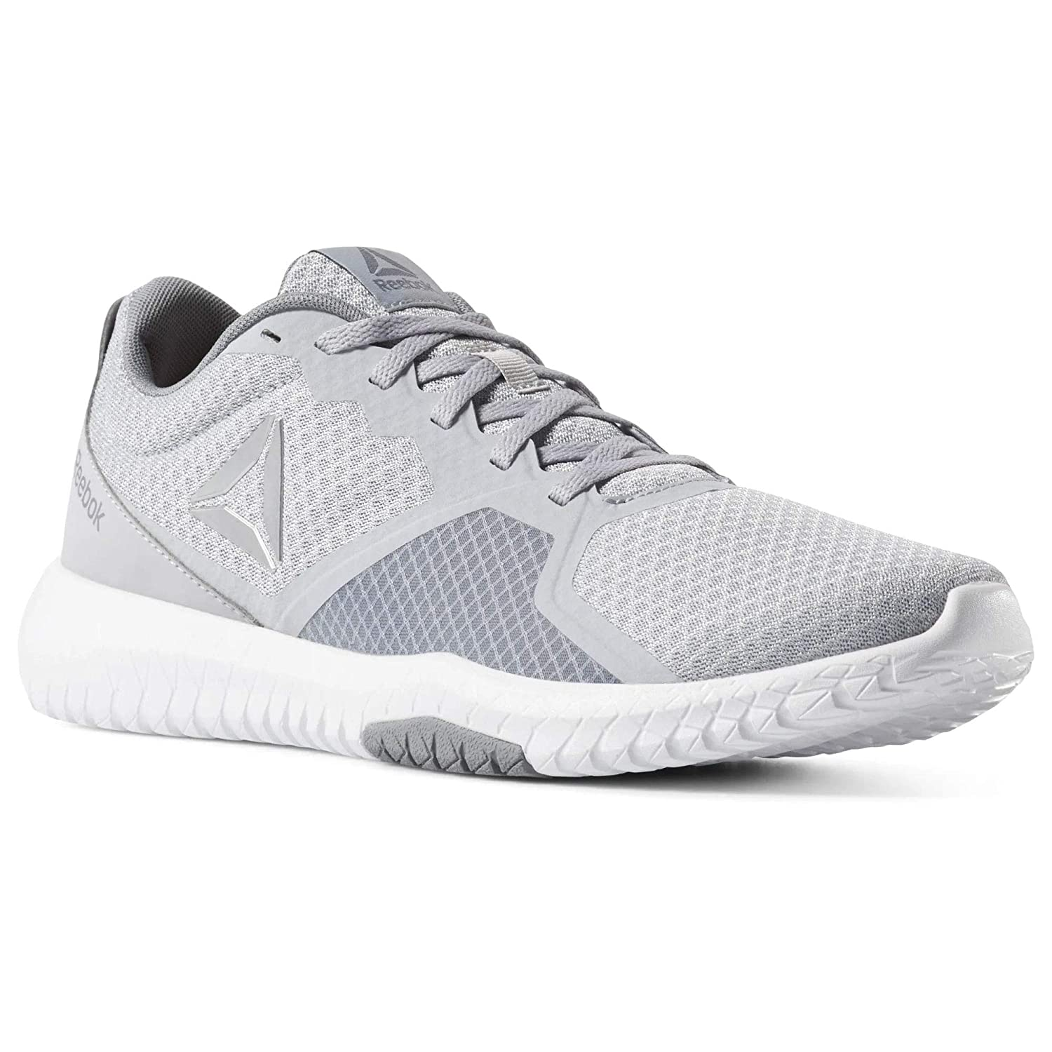 MultiCouleure (Cold gris blanc Neon Lime argent 000) 42 EU Reebok Flexagon Force, Chaussures Multisport Indoor Homme