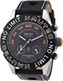 Nautec No Limit Herren-Armbanduhr XL Dakkar Chronograph Quarz Leder DK QZ/LTSTBK